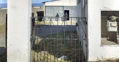 Procedimiento judicial en el galpón de Ramón Oviedo
