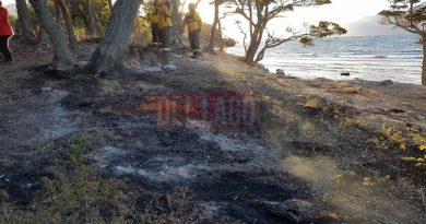 Trabajo terminado por la Brigada de Incendios Forestales en la zona de Lago Escondido