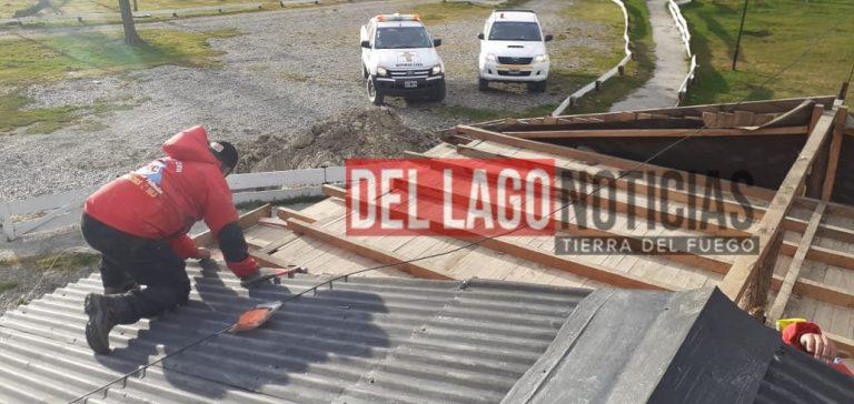 """TOLHUIN: «Hubo ráfagas de hasta 60 km/h y solamente una intervención en un domicilio por chapas sueltas"""""""