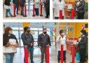 TOLHUIN: Ediles hicieron entrega de cuatro dispenser de alcohol en gel para la vuelta a clases