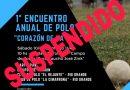 """TOLHUIN: Evento de Polo """"Corazón de la Isla"""" suspendido"""