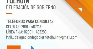 TOLHUIN: La Delegación de Gobierno suma distintas vías de comunicación ante el aumento de casos de Covid