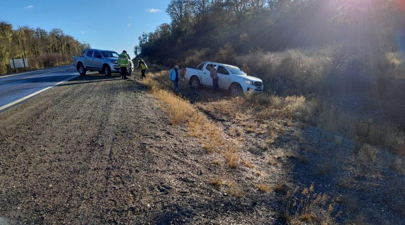 Despiste de una camioneta no se registraron heridos