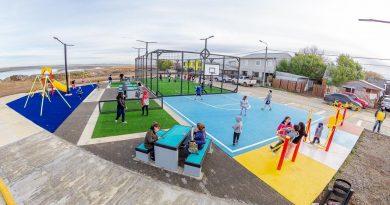 Inauguran un nuevo playón deportivo en Pasaje Lujan